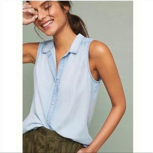 Anthropologie Cloth & Stone Chambray button-up top
